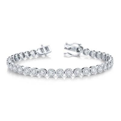3.79ct 14k White Gold Diamond Lady's Bracelet