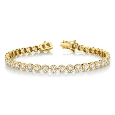 3.03ct 14k Yellow Gold Diamond Lady's Bracelet