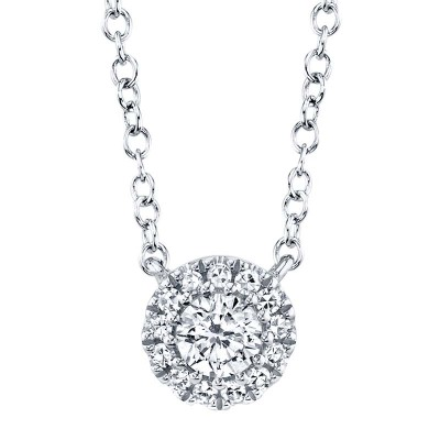 0.14ct 14k White Gold Diamond Necklace