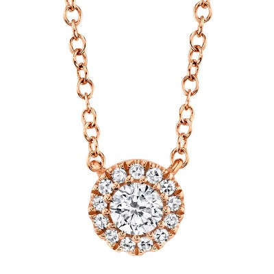 0.14ct 14k Rose Gold Diamond Necklace