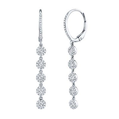 0.99ct 14k White Gold Diamond Earring