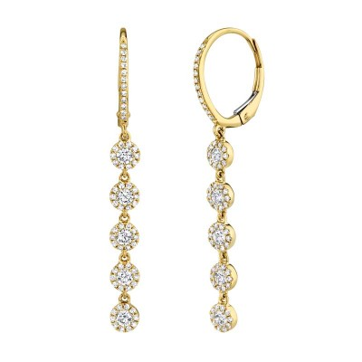0.99ct 14k Yellow Gold Diamond Earring