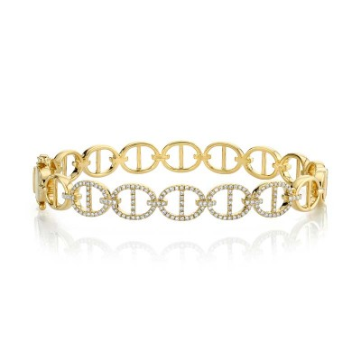 0.45ct 14k Yellow Gold Diamond Bangle