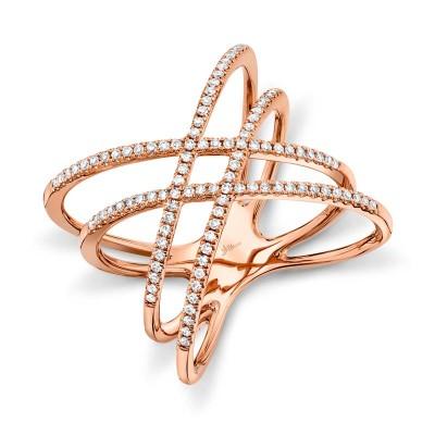 0.32ct 14k Rose Gold Diamond Lady's Ring