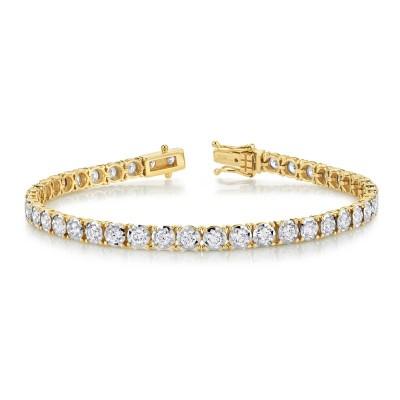 3.00ct 14k Yellow Gold Diamond Lady's Bracelet