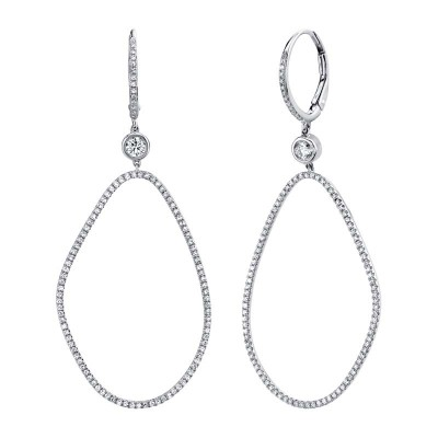 0.82ct 14k White Gold Diamond Earring