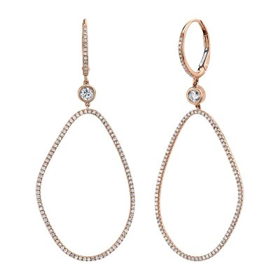 0.82ct 14k Rose Gold Diamond Earring