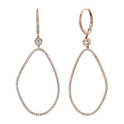 0.82ct 14k Rose Gold Diamond Earring