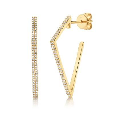 0.32ct 14k Yellow Gold Diamond Earring