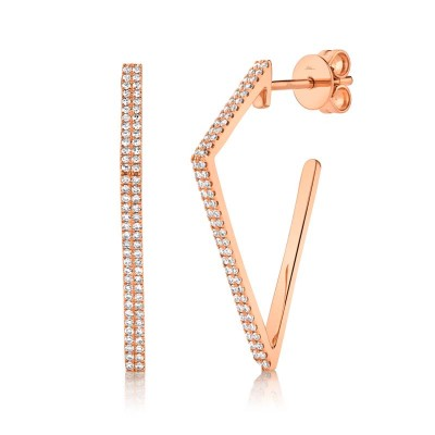 0.32ct 14k Rose Gold Diamond Earring
