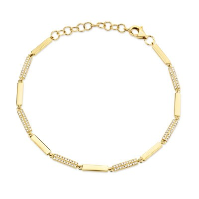 0.29ct14k Yellow Gold Diamond Bracelet