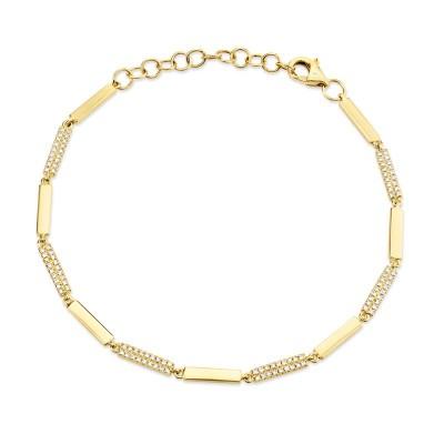 0.29ct14k Yellow Gold Diamond Bracelet
