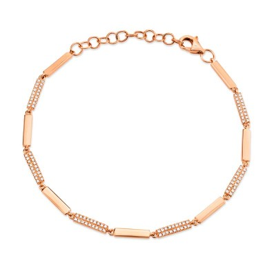 0.29ct 14k Rose Gold Diamond Bracelet