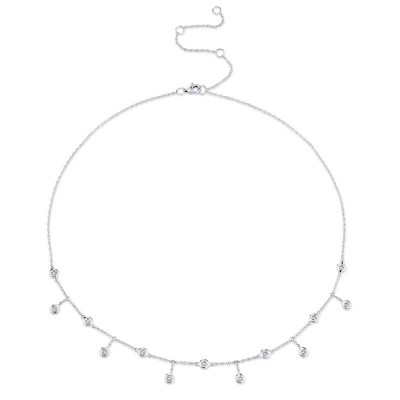 0.34ct 14k White Gold Diamond Shaker Necklace