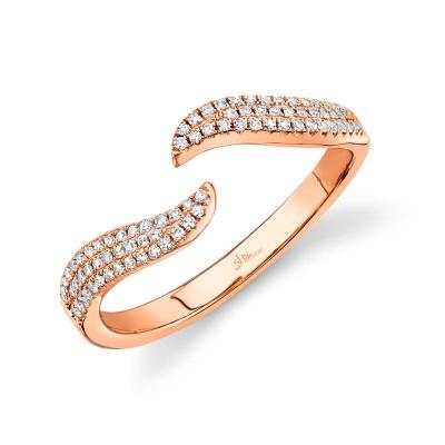 0.17ct 14k Rose Gold Diamond Lady's Ring