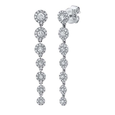 0.80ct 14k White Gold Diamond Earring
