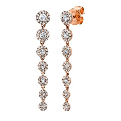 0.80ct 14k Rose Gold Diamond Earring