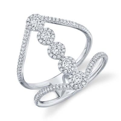 0.56ct 14k White Gold Diamond Lady's Ring