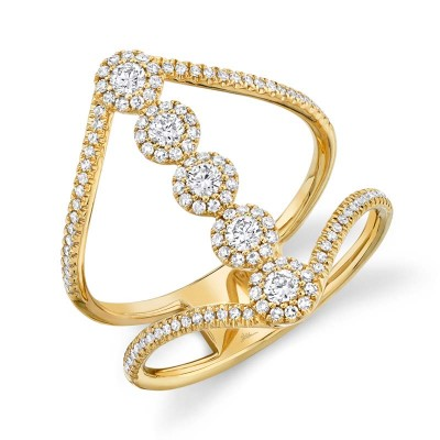 0.56ct 14k Yellow Gold Diamond Lady's Ring