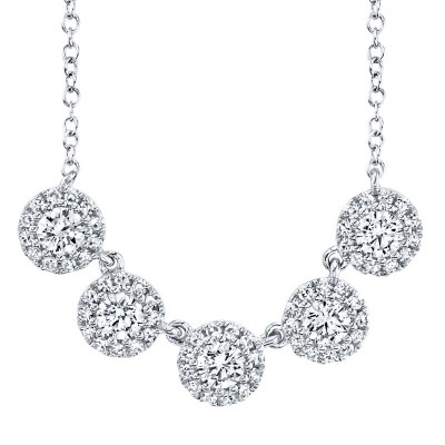 0.53ct 14k White Gold Diamond Lady's Necklace