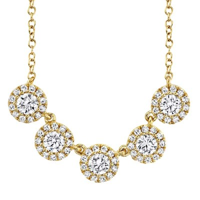 0.53ct 14k Yellow  Gold Diamond Lady's Necklace