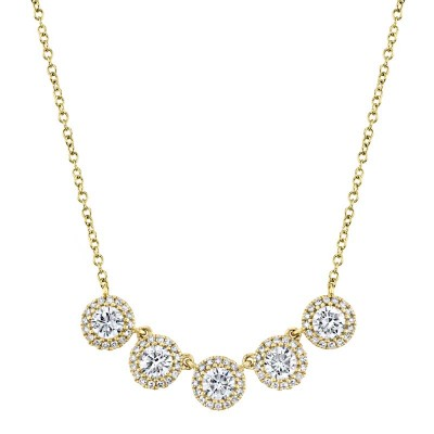 1.20ct 14k Yellow Gold Diamond Necklace