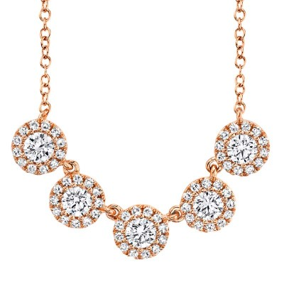 0.53ct 14k Rose Gold Diamond Lady's Necklace