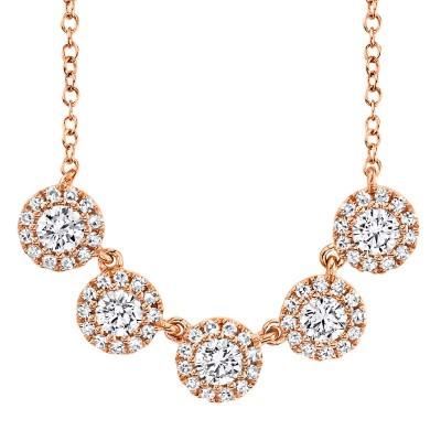 0.53ct 14k Rose Gold Diamond Lady's Necklace