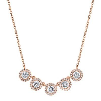 1.20ct 14k Rose Gold Diamond Necklace