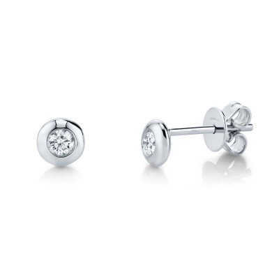 0.22ct 14k White Gold Diamond Stud Earring