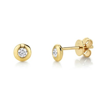 0.22ct 14k Yellow Gold Diamond Stud Earring