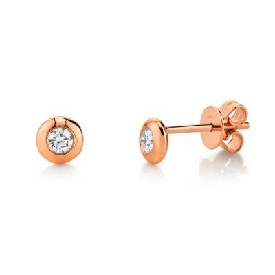 0.22ct 14k Rose Gold Diamond Stud Earring