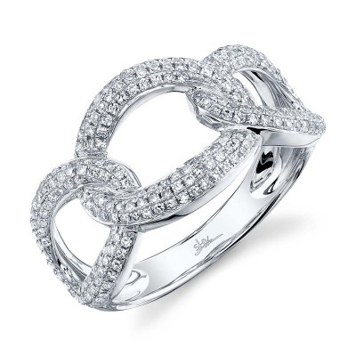 0.55ct 14k White Gold Diamond Lady's Ring