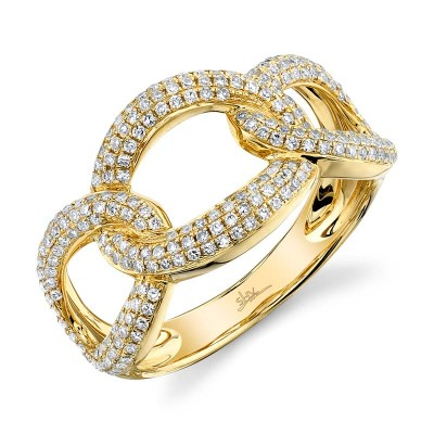 0.55ct 14k Yellow Gold Diamond Lady's Ring