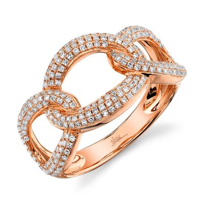 0.55ct 14k Rose Gold Diamond Lady's Ring