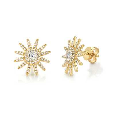 0.41ct 14k Yellow Gold Diamond Earring