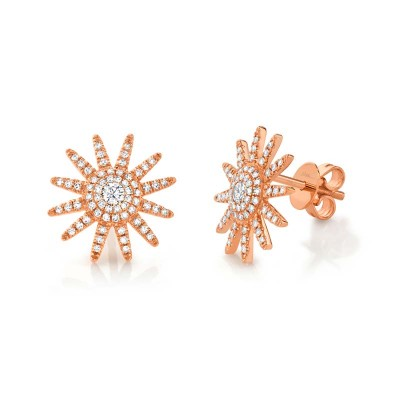 0.41ct 14k Rose Gold Diamond Earring