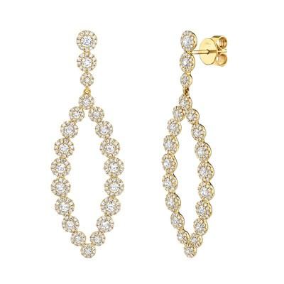2.95ct 14k Yellow Gold Diamond Earring