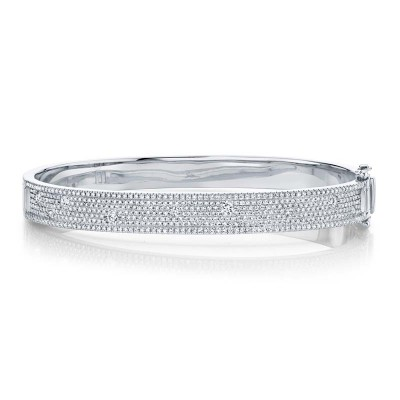 1.47ct 14k White Gold Diamond Bangle
