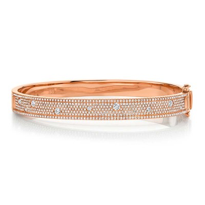 1.47ct 14k Rose Gold Diamond Bangle