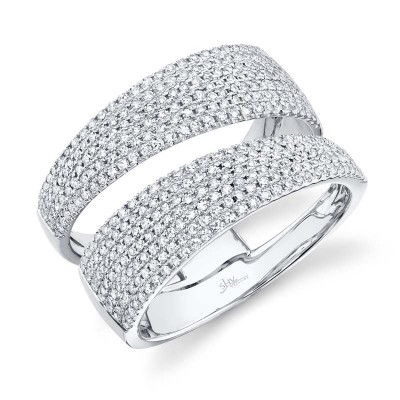 0.81ct 14k White Gold Diamond Pave Lady's Ring