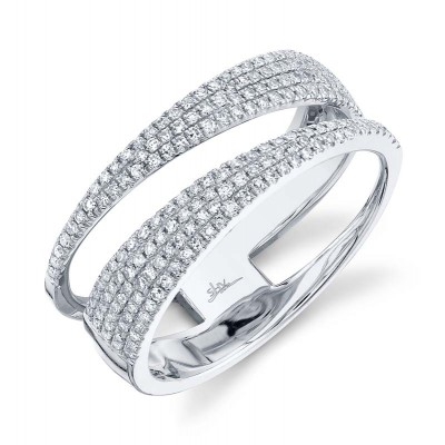0.45ct 14k White Gold Diamond Pave Lady's Ring