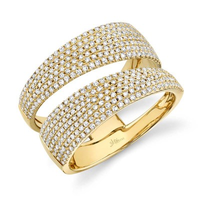 0.81ct 14k Yellow Gold Diamond Pave Lady's Ring