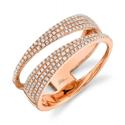 0.45ct 14k Rose Gold Diamond Pave Lady's Ring