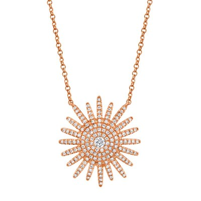 0.43ct 14k Rose Gold Diamond Necklace