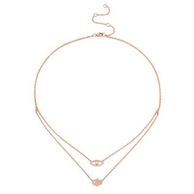 0.24ct 14k Rose Gold Diamond Eye & Hamsa Necklace