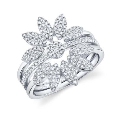 0.49ct 14k White Gold Diamond Lady's Ring 3-pc