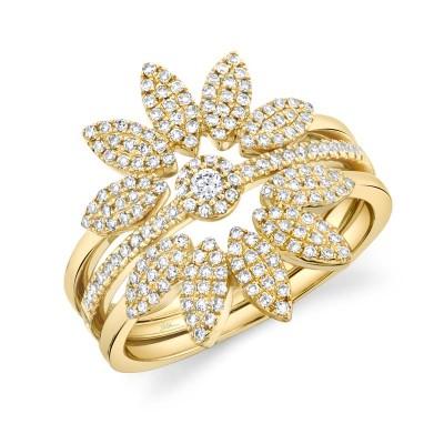 0.49ct 14k Yellow Gold Diamond Lady's Ring 3-pc