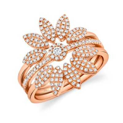 0.49ct 14k Rose Gold Diamond Lady's Ring 3-pc