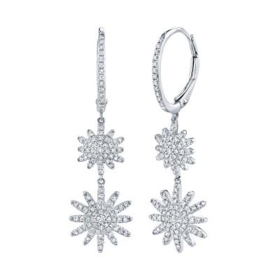 0.51ct 14k White Gold Diamond Star Earring